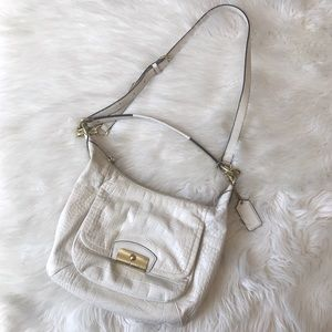 Coach | Kristen Hobo Embossed Exotic Leather